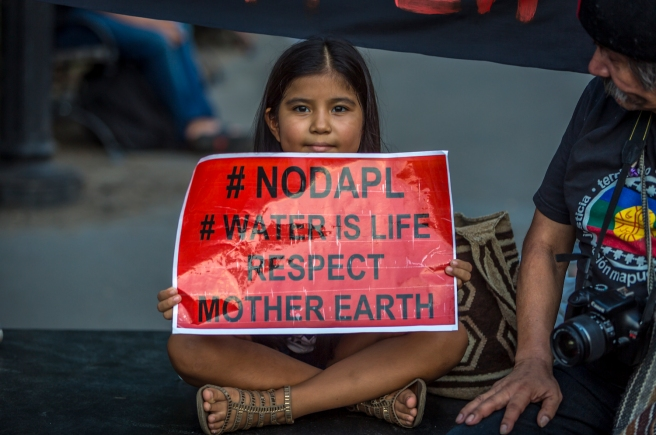 Hundreds Rally for Standing Rock Sioux in New York City in